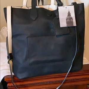 London Fog reversible tote